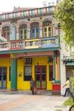 Färgrik byggnad i lilla Indien Singapore Royaltyfria Bilder
