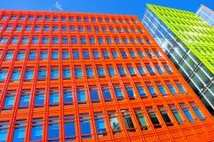 Färgrik byggnad i London, England, UK Fotografering för Bildbyråer