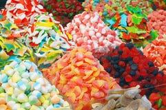 färgrik candie många royaltyfri foto