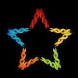 Färgrik celtic stjärnatatuering eller garnering Royaltyfri Foto