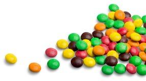 Färgrik choklad - bestrukna godisar Arkivbilder