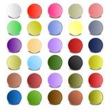 Färgrik cirkel med skuggor Fotografering för Bildbyråer