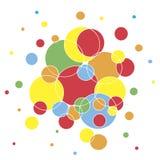 färgrik cirkelbakgrund Royaltyfri Bild