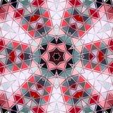 Färgrik cirkelbakgrund för abstrakt triangel Mosaisk röd vit grå färgrunda Fotografering för Bildbyråer
