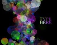 Färgrik cirkelbakgrund med copyspace Royaltyfri Foto