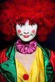 färgrik clown Arkivbilder