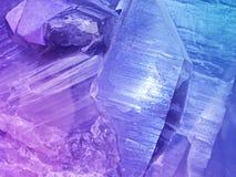 Färgrik cristal sten royaltyfri fotografi