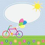 Färgrik cykel för ram Royaltyfria Bilder