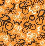 Färgrik cykla bakgrund Arkivfoton