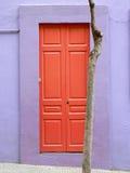 färgrik dörr Royaltyfria Bilder