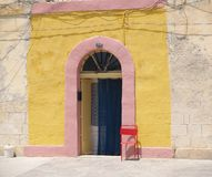 färgrik dörr Arkivbilder