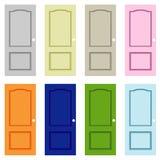 Färgrik dörrkonst för samling Royaltyfria Bilder