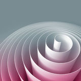 Färgrik 3d spiral, abstrakt digital illustration, bakgrund Royaltyfri Fotografi