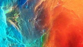 Färgrik darrig abstrakt rörelsebakgrund Abstrakt färgrik partikelbakgrundsanimering Rörande sfärer Royaltyfri Fotografi