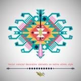 Färgrik dekorativ beståndsdel för vektor på inföding Royaltyfria Foton