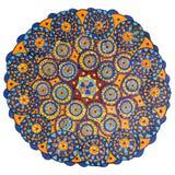 Färgrik dekorativ hand dragen mandalamodell stock illustrationer