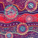 Färgrik dekorativ modell bakgrundsperson som tillhör en etnisk minoritet royaltyfri illustrationer