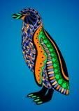Färgrik dekorativ pingvin Royaltyfri Bild