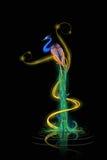 Färgrik dekorerad påfågel Arkivfoton