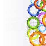 färgrik design för abstrakt cirkel Royaltyfria Bilder