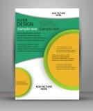 färgrik design för broschyr Reklambladmall för affär Royaltyfri Foto