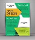 färgrik design för broschyr Reklambladmall för affär Arkivfoto