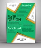 färgrik design för broschyr Reklambladmall för affär Royaltyfri Bild
