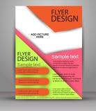 färgrik design för broschyr Reklambladmall för affären, utbildning, presentation Royaltyfri Bild