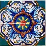 Färgrik design för keramisk tegelplatta Arkivbilder