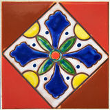 Färgrik design för keramisk tegelplatta Arkivbild