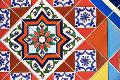Färgrik design för keramisk tegelplatta Royaltyfria Foton