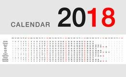 Färgrik design 2019 för vektor för kalenderår template8 Arkivfoto