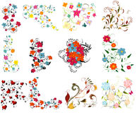 färgrik designelementset Royaltyfri Foto