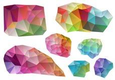 färgrik designelementvektor Royaltyfri Foto