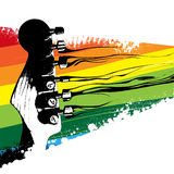 färgrik designgitarr Royaltyfria Bilder