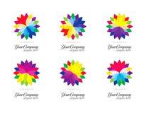 färgrik designlogo Arkivfoton