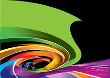 färgrik designspiral Fotografering för Bildbyråer