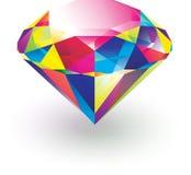 färgrik diamant Royaltyfri Fotografi
