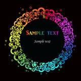 färgrik din textvektor Royaltyfria Bilder