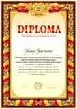 Färgrik diplommellanrumsmall Royaltyfria Foton
