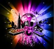 färgrik discotequehändelse för bakgrund Royaltyfria Foton