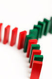 Färgrik dominobegreppsnätverkande Arkivfoton