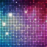 Färgrik Dots Abstract Disco bakgrund vektor Royaltyfri Fotografi