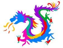 färgrik drake Arkivfoto