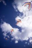 Färgrik drake i skyen Fotografering för Bildbyråer