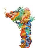 färgrik drakestaty Arkivfoto