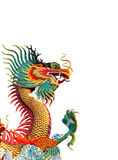 färgrik drakestaty Royaltyfri Fotografi