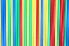 Färgrik dricka sugrörbakgrund Fotografering för Bildbyråer