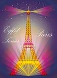 Färgrik Eiffeltorn Royaltyfri Foto