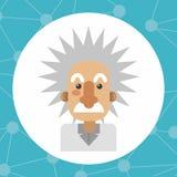 Färgrik Einstein design royaltyfri illustrationer